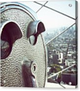 Telescope In Nyc Acrylic Print