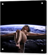 Tellus Crucifix In Dark V Acrylic Print