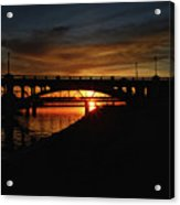 Tempe Bridge Sunset  Acrylic Print