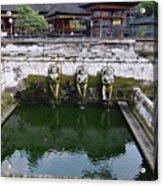 Temple Fountain Acrylic Print
