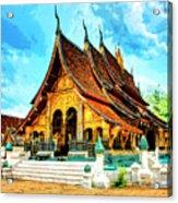 Temple In Laos Acrylic Print
