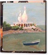 Temple In Sea Acrylic Print