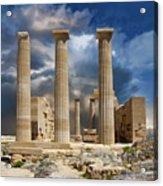 Temple Of Athena Acrylic Print