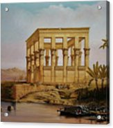 Temple Of Isis On The Nile River Acrylic Print