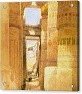 Temple Of Karnak  Acrylic Print