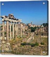 Temple Of Saturn Acrylic Print