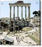 Temple Of Saturn Roman Forum Rome Italy Acrylic Print