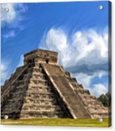 Temple Of The Feathered Serpent Acrylic Print