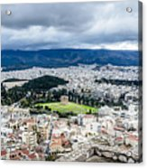 Temple Of Zeus - View From The Acropolis Acrylic Print