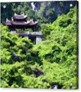 Temple Tam Coc Ninh Binh  Acrylic Print