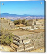 Temples In Monte Alban Acrylic Print