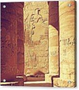 Temples Of Karnak  Acrylic Print
