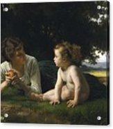 Temptation By William-adolphe Bouguereau Acrylic Print