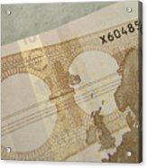 Ten Euro Note Acrylic Print