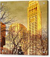 Ten Past Four At Madison Square Park Acrylic Print