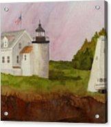 Tenants Harbor Light Acrylic Print