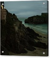 Tenby In The Night Acrylic Print