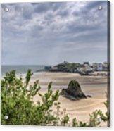 Tenby Pembrokeshire Low Tide Acrylic Print