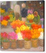 Tending Flowers - Amsterdam Acrylic Print