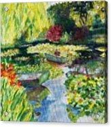 Tending The Pond Acrylic Print