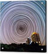 Tenerife Star Trails Acrylic Print