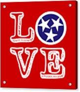 Tennessee Flag Love Acrylic Print