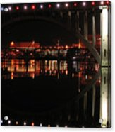 Tennessee River In Lights Acrylic Print