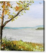 Tennessee River In The Fall Acrylic Print