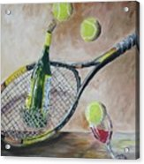 Tennis And Wine Acrylic Print