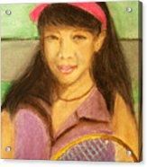 Tennis Player, 8x10, Pastel, '07 Acrylic Print