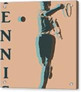 Tennis Player Pop Art Poster Acrylic Print