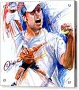 Tennis Snapshot Acrylic Print by Ken Meyer jr