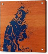 Tennis Splatter Acrylic Print