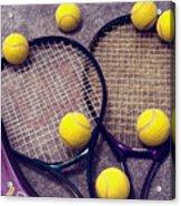 Tennis Still Life 3 Acrylic Print
