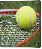 Tennis Acrylic Print by Valerie Morrison