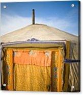 Tent In The Desert Ulaanbaatar, Mongolia Acrylic Print