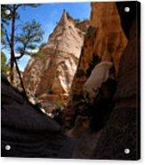 Tent Rocks Canyon Acrylic Print