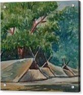 Tents Under Tree Acrylic Print