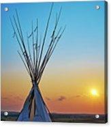 Tepee At Sunset Acrylic Print