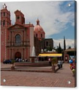 Tequisqueapan Main Catherdral, Mexico Acrylic Print