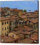 Terra-cotta Roofs Barga Vecchia Italy Acrylic Print
