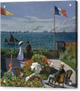 Terrace At Sainte-adresse Acrylic Print