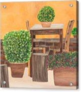 Terrace In Tuscany Acrylic Print