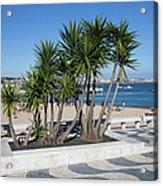 Terrace Promenade At Ribeira Beach In Cascais Acrylic Print