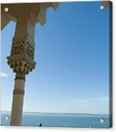 Terrace With A View Of The Sea On Top Of The Palacio De Valle Acrylic Print by Sami Sarkis
