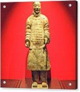 Terracotta Warrior  A Brave Commanding Officer   Acrylic Print