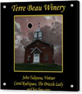 Terre Beau Winery 2017 Eclipse Poster Acrylic Print