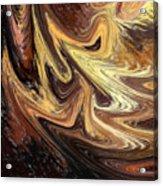 Terrestrial Brush Strokes  Acrylic Print