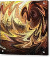 Terrestrial Flames Abstract  Acrylic Print