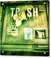 Terror At The Trash Can Acrylic Print
